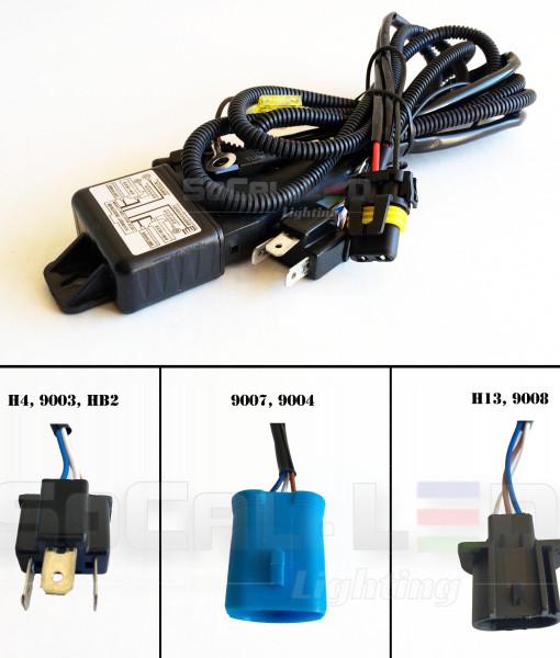 Hid bi xenon relay harness hi lo wiring controller w fuse
