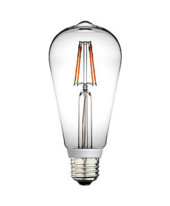 ST64 LED Bulb Filament candle light 4.5w 2700K Dimmable